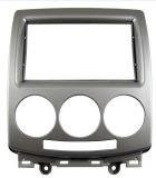 Doppel-DIN Radio Blenden Autoradio 2-DIN Radioblende - Halterung - silber für Mazda 5 Baujahr 2006 - 2012