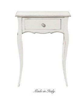 Tavolino con cassetto in legno stile vintage disponibile in diverse rifiniture L'ARTE DI NACCHI 4875/SH