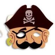 Henbrandt Eva Schaum Piraten Maske mit Schnurrbart und Augenklappe Maske (Schaum Piraten Masken)
