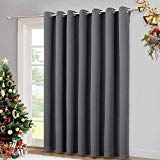 NICETOWN Thermal Insulated Wide Width Solid Blackout Curtain / Drape, Sliding Door Insulated