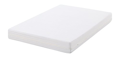 Oasis - Fodera per materasso, in raso cutí lavorato, 100% cotone sanforizzato, colore: bianco 90 x 190cm