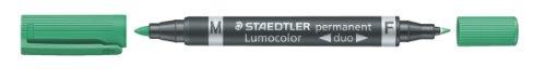 Staedtler 348-5 - Pennarello Evidenziatore, a 2 Punte, Colore Verde, Pacco da 10 Pezzi