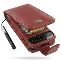 PDair Handarbeit Leder Hülle - Leather Flip Case for Samsung Omnia SGH-i908 i900 (Red) Pdair Flip Case