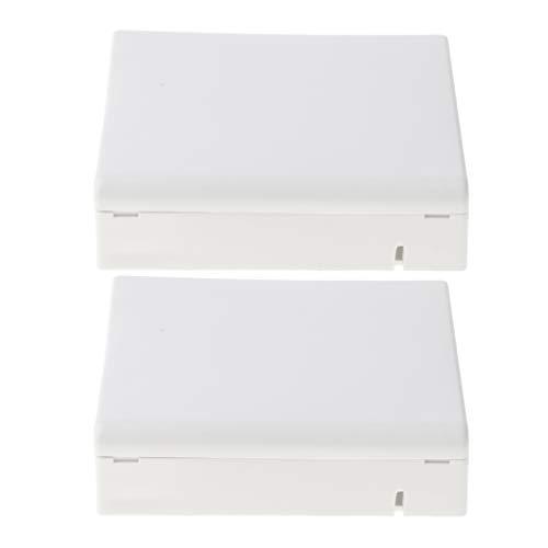 B Blesiya 2x LWL-Verteilerkasten Desktops Panel Terminal Box fiberoptisch Verteilerkasten für FTTH
