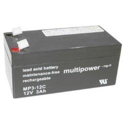 Multipower Bleiakku MP3-12C Zyklen-Type 12,0Volt 3000mAh