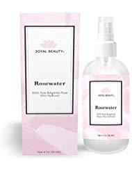 Luxuriöses 100% reines Rosenwasser von Joyal Beauty-Organic Bulgarische Rose Otto Hydrosol. Dampf destilliert von Rose Damascena. Bester Feuchtigkeitsspray für Gesicht und Haare. Premium-Therapeutikum