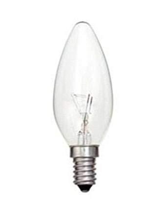10 x Clear Candle Small Edison Screw Cap SES E14 Lamp Light Bulbs 25W 25 Watt
