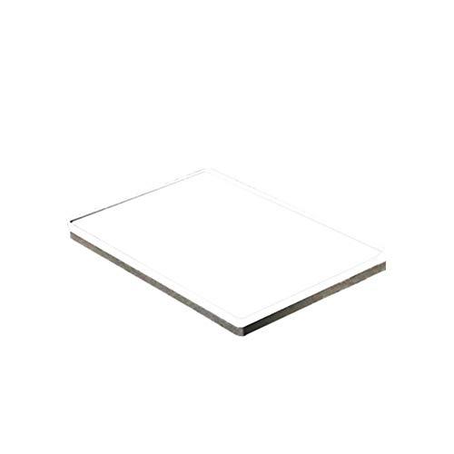 UKCOCO Normalglas-Spiegel, transparente optische Quarzglasplatte mit hoher Durchlässigkeit für ultraviolettes Licht