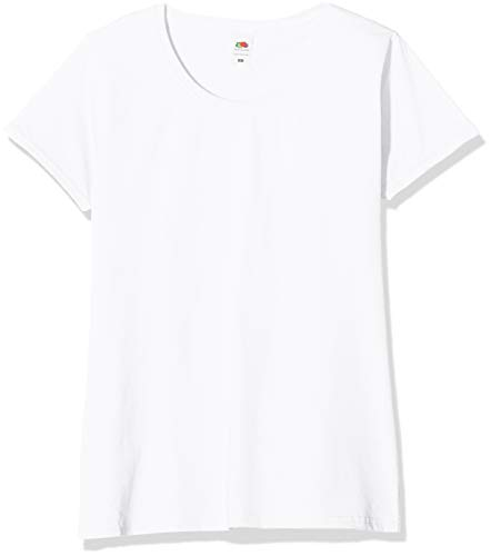 Fruit of the loom valueweight 5 pack, t-shirt donna, bianco (white 30), l