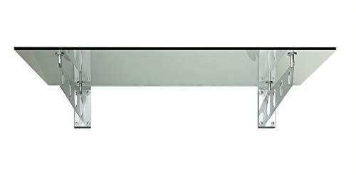 150x90cm Glasvordach Vordach Pavillion Türvordach Haustürvordach VSG-Glas inkl....