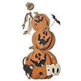 Holz Halloween Pumpkin Mit Boo Zeichen