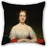 beautifulseason-oil-painting-charles-cromwell-ingham-portrait-of-fidelia-marshall-throw-pillow-case-