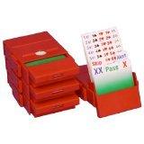 Bridge Partner Bidding Boxes- Carte di 100% plastica - Rosso