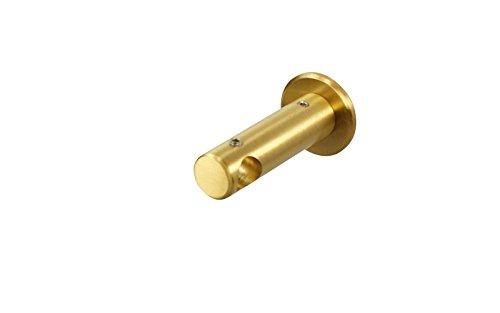 Messing Matt Wandhalter Deckenhalter für 12 mm Gardinenstangen geschlossen 5 cm
