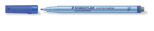 staedtler-lumocolor-correctable-305-feutre-non-permanent-effacable-a-sec-pointe-fine-06-mm-bleu