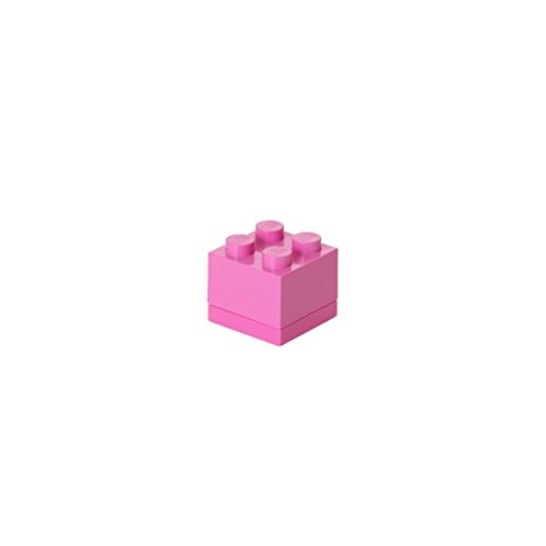 LEGO Mini-Box, 4 Noppen, Brotdosen-Einsatz, Snackbox, rosa