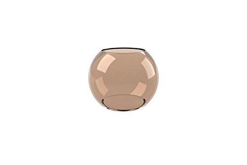 Cooee Design - Ball - Vase/Glasvase/Kugelvase/Blumenvase/Windlicht - Glas/Mundgeblasen - Brown - Ø 10cm