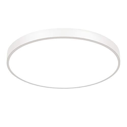 ETiME 54W LED Deckenlampe Kaltweiß 60cm Deckenleuchte Rund 4860LM Deckenbeleuchtung für Esszimmer Badezimmer Schlafzimmer (Weiß Kaltweiß ohne FB, 60cm Rund)