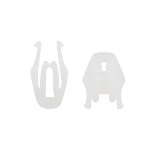 Sourcingmap® 100 Pezzi 9mm di Diametro di Foro Bianco Rivetti plastica parafango Auto Fermi sportello