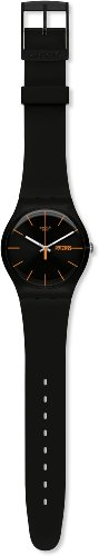 Swatch Unisex-Armbanduhr Dark Rebel Analog Quarz Plastik SUOB704 -