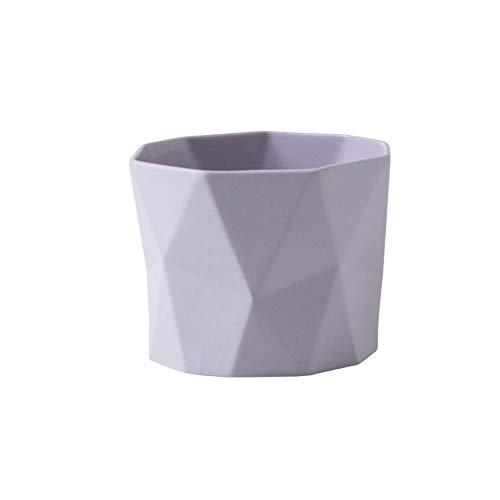 Candy Farbe Becher ohne Henkel Tasse Kreative Keramik Tasse Milch Kaffeetasse 280ml Lila (Lila Becher Tasse)