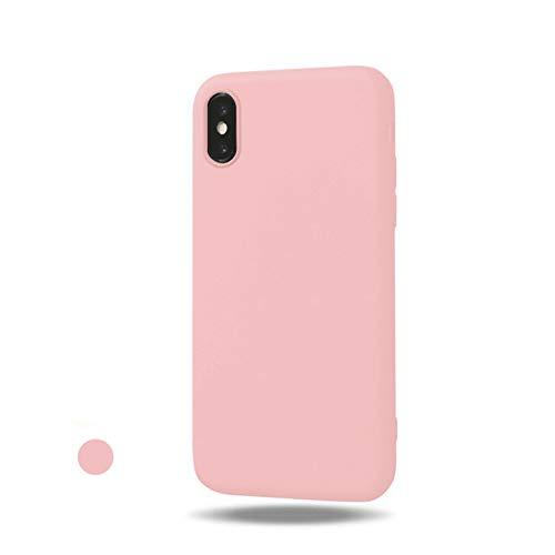 Freessom Coque iPhone 6 plus/6s Plus Silicone Rose Poudre Pale Mat Apple Couleur Souple Slim Simple Anti Choc Ultra Mince Fine Originale Fantaisie Leger TPU Cadeau Pas Cher