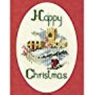 Derwentwater Designs-Kit per creare biglietti di auguri di Natale, motivo: villaggio