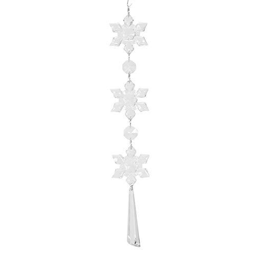 Schneeflocke Kristall Ketten DIY Glas hängen Strang für Fenster Auto Dekoration 10st (2#)
