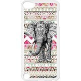 Black/White Sides Classic Style Custom Unique Aztec Vintage Elephant Design Skin Cover Case for iPod Touch 5th Durable Plastic iPod 5 Case - Paul Classic Custom Les