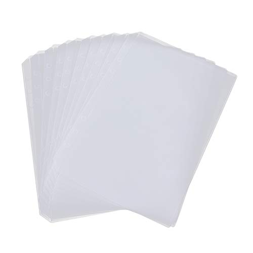 IPOTCH 10 pcs A5 6-Ring Transparente Dokumententaschen Blatt Protektoren Papier Datei Dokumente Tasche - Single