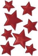 Schmucketikett-Magic-Weihnachten-Sterne-Rot-Stoff-1Bl-1Pack