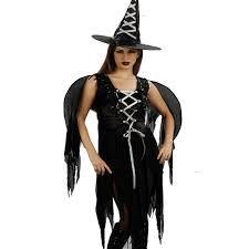 Kostüm Erwachsene Hexe mit Flügel T. Unica