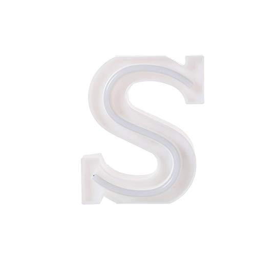 abe Lichter Alphabet, LED Brief Licht, Led Dekoration für Geburtstag Party Hochzeit & Urlaub Haus Bar Light Box 24 Buchstaben,10 arabische Ziffern LED für Party und Haus Deko (S) ()