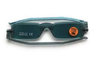 09ce0a4a60 Reading Glasses Nannini Compact 1 Folding Tinted Sun Readers Grey-Strength  +2.50
