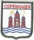 Copenaghen Danimarca mondo Bandiera Stemma Ricamato Patch Badge