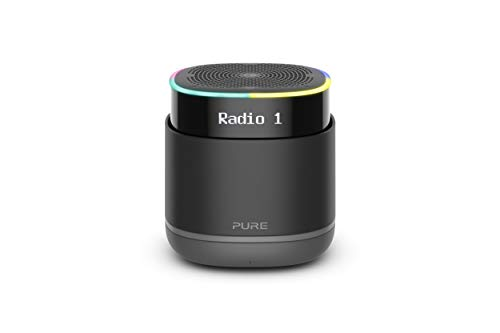 Pure StreamR Tragbarer kabelloser Digitalradio-Lautsprecher mit Alexa-Sprachtechnologie und Bluetooth-Streaming, Anthrazit