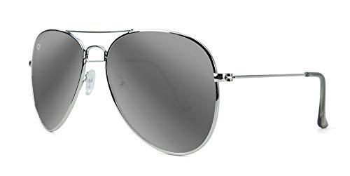 Knockaround Meile Höhen polarisierten Sonnenbrillen Silber/Silber-Rauch