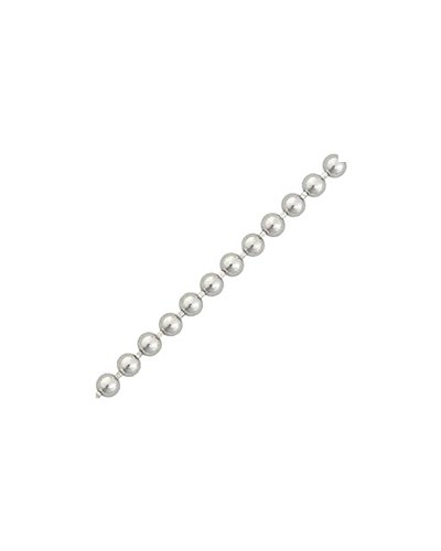 iJewelry2 Collier Unisexe - Chaîne et Billes - Argent 925/1000 - Boule 1,5 mm