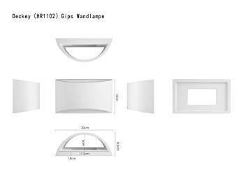 Lmpara-de-Pared-de-Cermica-DECKEY-Iluminacin-Decorativa-en-Yeso-Luz-de-Pared-LED-Arriba-Abajo-Efecto-de-Luz-Interior-para-Dormitorio-Saln-y-habitacin-Clase-de-eficiencia-energtica-A