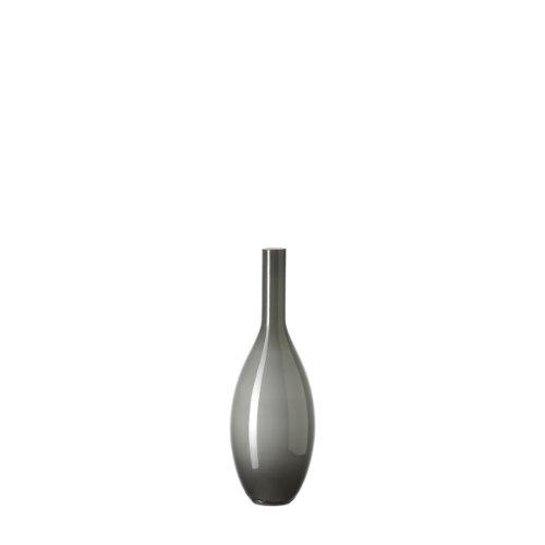 LEONARDO Beauty Vase grau, Höhe 39 cm, Durchmesser 14 cm, handgefertigtes Farbglas, 070408