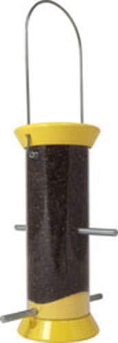 Droll Yankees Nyjer Feeder (Droll Yankees Flocker Vogelfutterstation für Finken, 20,3 cm, 4 Anschlüsse, Gelb)