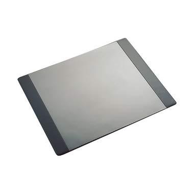 Läufer 48656 Durella DL Schreibtischunterlage mit transparenter Folie und zwei gepolsterten Seitenleisten, 50x65 cm, schwarz