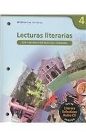 Lecturas Literarias: Con Preparacion Para Los Examenes par McDougal Littel