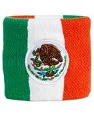 Digni® Poignet éponge avec drapeau Mexique, pack de 2