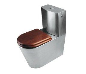 Mediclinics sn0110cs-WC mit Spülkasten Edelstahl satiniert