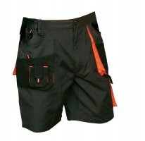 EMERTON Arbeitsshorts Shorts schwarz/orange Größe: 56