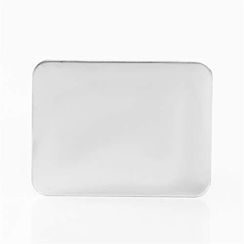 Hyhy Make-up-Palette aus Edelstahl, für Mini-Nagelkunst, professionelles Mischwerkzeug 1.69 * 1.30 * 0.67inch Silver Large - Mini-make-up-palette