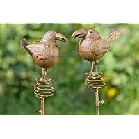 Vogel Namik 2er-Set 10 cm 556890 NEU Gartenfigur Dekovogel Gartendeko