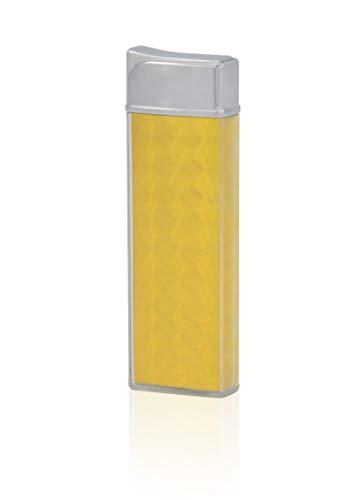 TESLA Lighter T12 Lichtbogen Feuerzeug, Plasma Single-Arc, elektronisch wiederaufladbar, aufladbar mit Strom per USB, ohne Gas und Benzin, mit Ladekabel, Gelb