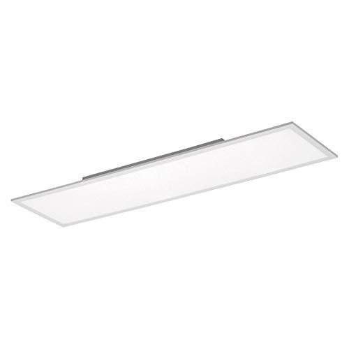 LED Panel, 120x30, 38 Watt, Deckenleuchte, dimmbar + Fernbedienung, Innenraum-Leuchte, flach + platzsparend, Büroleuchte, kaltweiß, 4000 Kelvin